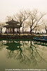 The Summer Palace pavilion and boat launch, Beijing, China.