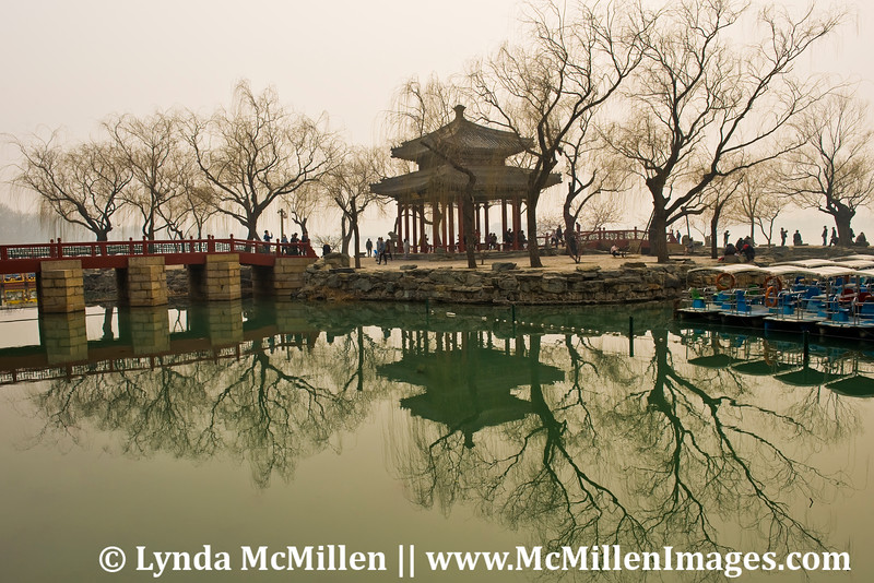 Pavilion at the Imperial Garden, formerly the Summer Palace, Beijing.