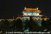 Night lights of Xi'an's Great Wall.
