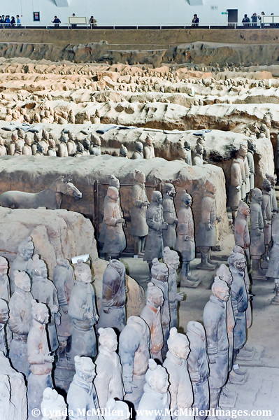 The iconic Terracotta Army of Emperor Qin.