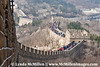 Badaling Hills Great Wall.  The  wall is 5400 km long (3,355 miles) and is visible from space.