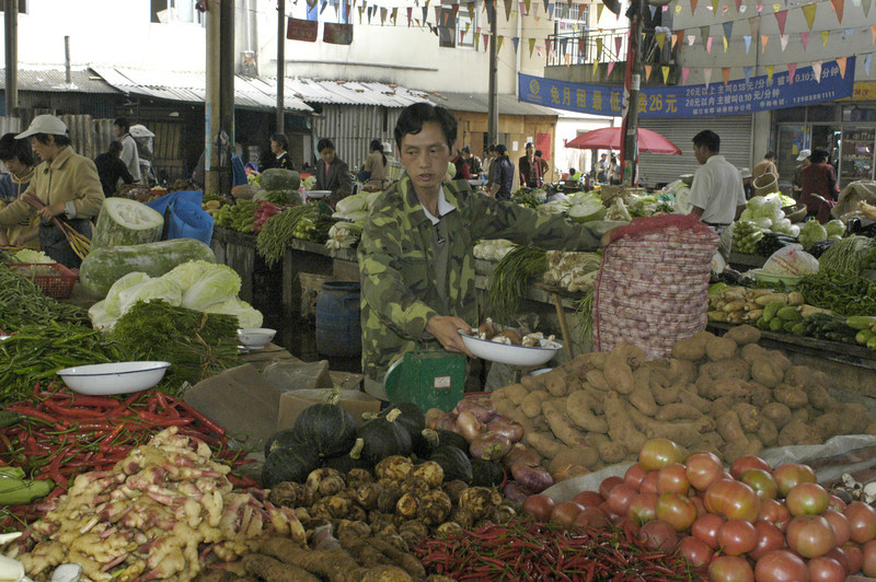 Veggie vendor.