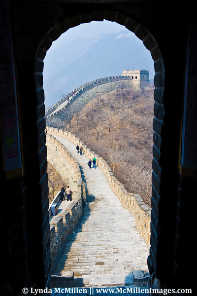 View of wall from Tower 14, Mutianyu section, built 1404.