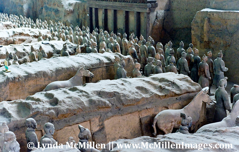 Over 8,000 soldiers were buried with China's first emperor ~210 B.C.