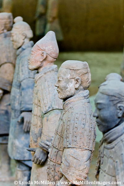 The terracotta army, discovered in 1974 while digging a well.