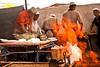 Kashgar- Sunday Mal Bazaar animal market - Preparing food