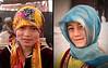 Girls in Kashgar- Sunday Mal Bazaar animal market