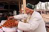 Kashgar- Sunday Mal Bazaar animal market - Selling food