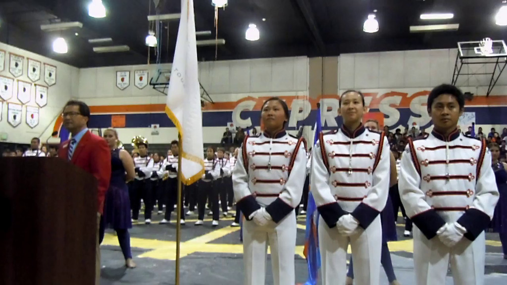 Cypress High School Imperial Brigade Pep Rally for Tournament of Roses President, Richard Chinen, April, 22 2014