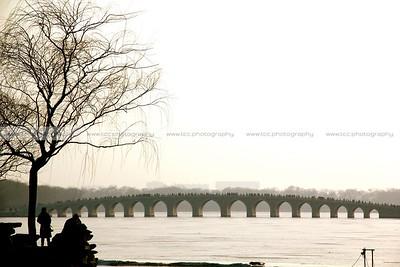 Seventeen Arch Bridge and Kunming Lake, Summer Palace, Beijing, China