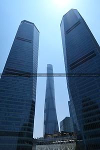Shanghai Tower and Shanghai IFC, Lujiazui CBD, Pudong, Shanghai, China