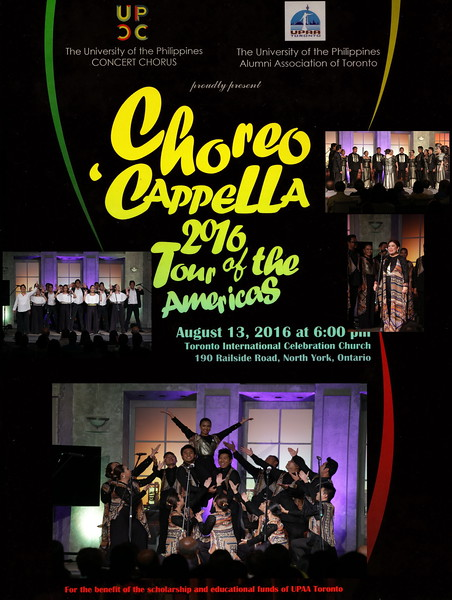 CHOReo' CAPPELLA  2016 Toronto
