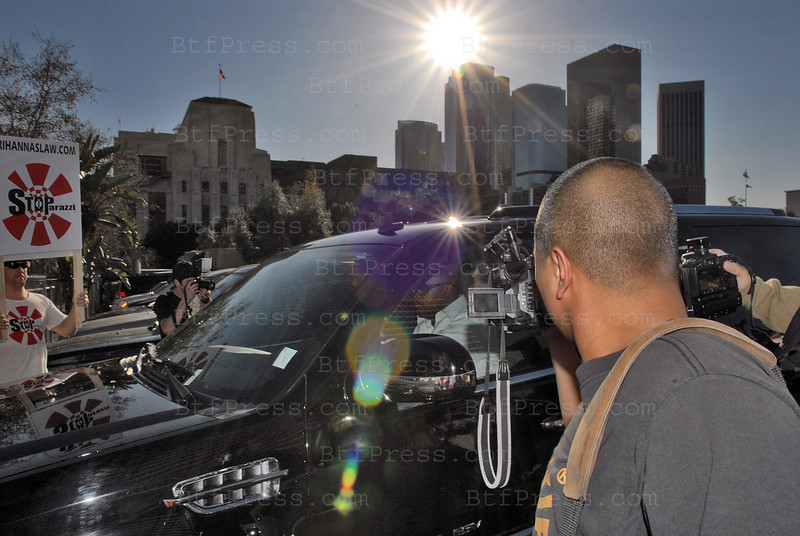 LOS ANGELES,CALIFORNIA, MARCH 05, 2009 -  Chris Brown briefly appeared in court Thursday, hours after he was charged with two felonies stemming from what a police detective describes as a brutal argument between the singer and his girlfriend, Rihanna. Brown's arraignment was postponed until April 6 on charges of assault likely to cause great bodily injury and making criminal threats. The 19-year-old R&B singer remains free on $50,000 bail.