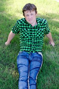 CHRIS SITTING IN LAWN