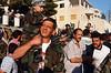 Rassemblement dans une rue de Maaloula à l'occasion de la fête de l'Exaltation de la croix. Syrie