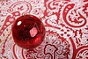 Chrsitmas red ball over indian pattern