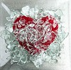 Broken glass red heart