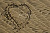 hearth draw on the beach sand surface