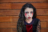 Halloween kid girl custome bloody makeup