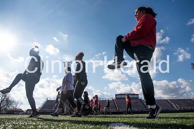 CHS girls track practice 3-1-18