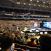 20,000 people, 500 teams in the Edward Jones Dome in St. Louis ready for the National FIRST Robotics Competition.  There were teams from all over the WORLD here.