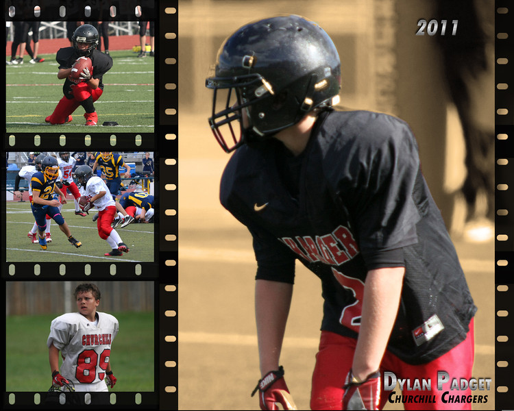 <center>5 Photos - 16x20 Customized Metallic Print $49.99 plus shipping and tax CHS Football Filmstrip