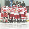 It took overtime but Orchard Lake St. Mary's (ranked #4 in the Super 10) defeated Brother Rice (ranked #1 in the Super 10) 5-4 in the CHSL Championship game Saturday night. (MIPrepZone photo by Timothy Arrick)