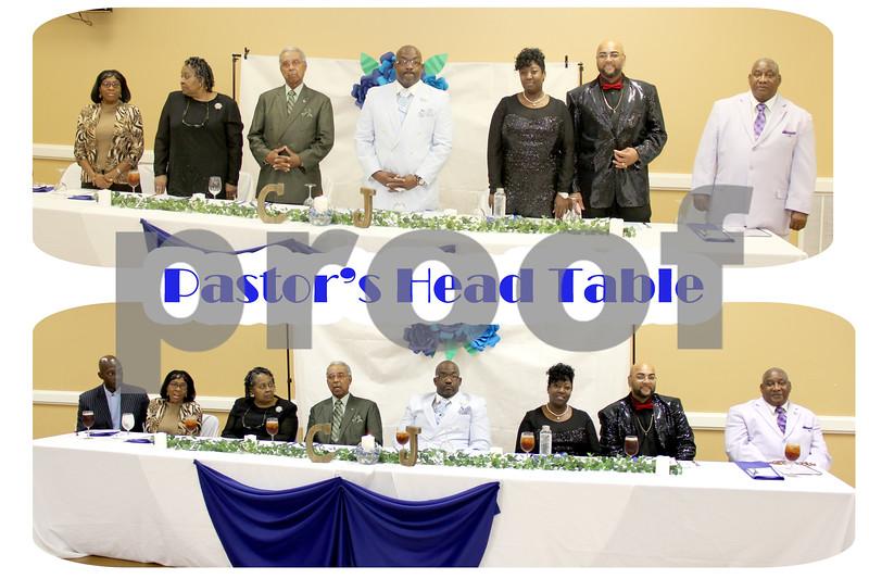 Pastor's Head Table