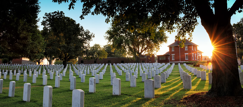 Fort Smith National Cemetery at Sunset