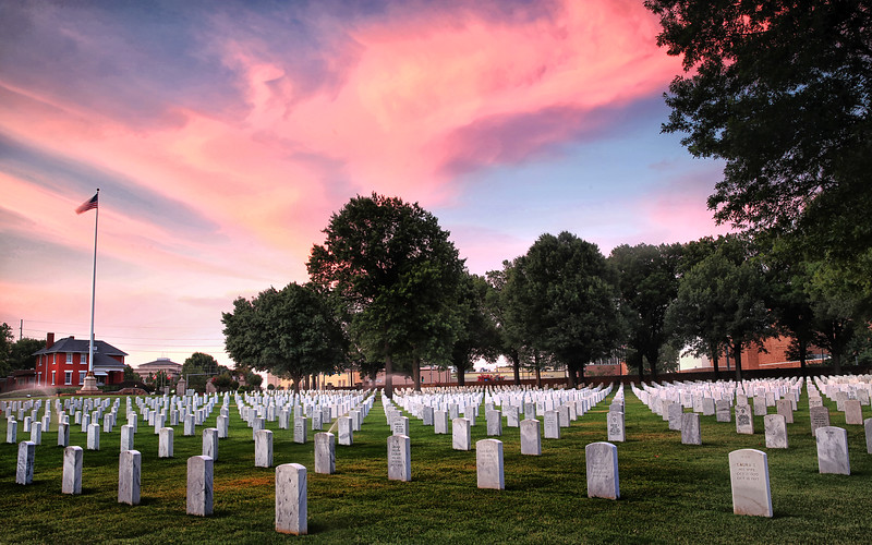 Sunset - Fort Smith National Cemetery