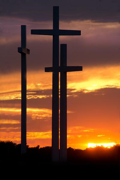 The Three Crosses - Cross Church - Rogers Arkansas .