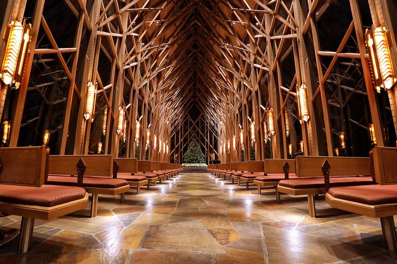 Anthony Chapel - Garvan Woodland Gardens - Christmas 2014 - Hot Springs, Arkansas