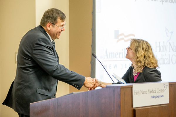 The CIANJ welcomed the new leader of the NJ Department of Human Services, Acting Commissioner Elizabeth Connolly, at Holy Name Medical Center on June 26, 2015. Photo by Victoria Matthews/Holy Name Medical Center