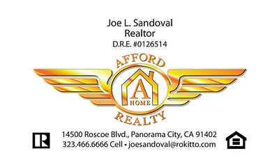 AFFORD A HOME REALTY BUSINESS CARDS