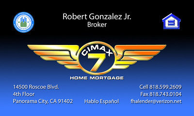 CIMAX HOME MORTGAGE BUSINESS CARD SAMPLES