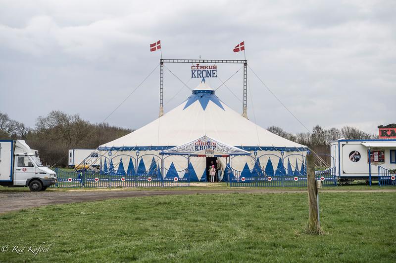 Cirkus Krone har plads til 250 publikummer