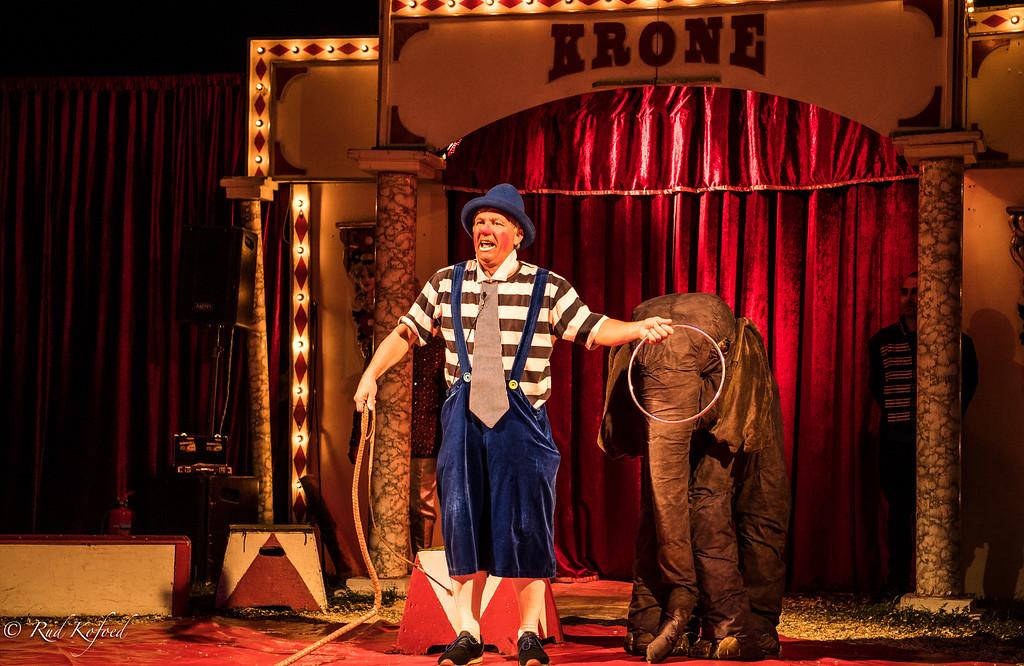 Velkommen til cirkus, hr. Elefant. Vi starter med, at du springer igennem ringen...