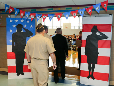 Canton Intermediate School held a celebration of service to our country ceremony on Veterans Day 2016.  Photo by John Fitts