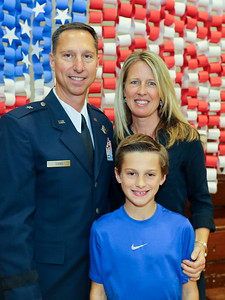 Pete Siana (U.S. Air Force 1988-2015 - 157 combat missions) with wife Dawn and son Joseph. Photo by John Fitts