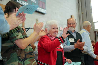 Margaret Sangster served in the U.S. Air Force as a member of the Women's Auxiliary Ferrying Squadron from 1949-1958. She was a drill instructor, a sergeant, tech sgt . and the first woman stationed above the arctic circle in Greenland.  Photo by John Fitts