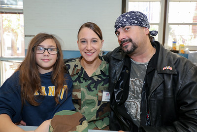 Nevaeh Lavoie, Aliza Levy (U.S. Army 2003-2008) and Billy Lucas.  Photo by John Fitts
