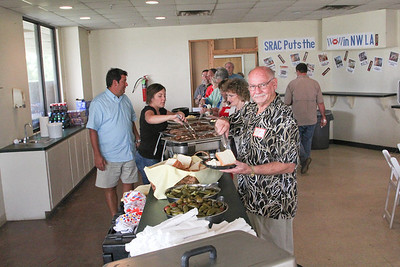 The Christmas In The Sky work nights include food for the volunteers.  The Silver Star Smokehouse provided the BBQ for the kickoff event.