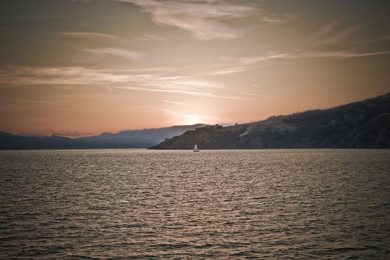 Sunset on San Francisco Bay