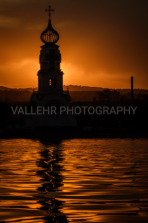 NOVOROSSIYSK - SUNSET FROM HARBOUR