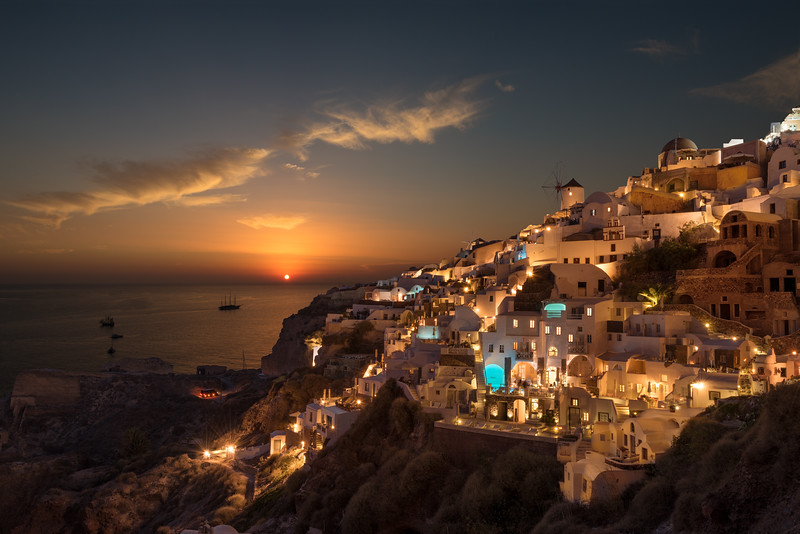 Oia, Santorini. An impossible picture. With clouds in august...