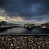 View on Seine, Paris, from the Pont des Arts