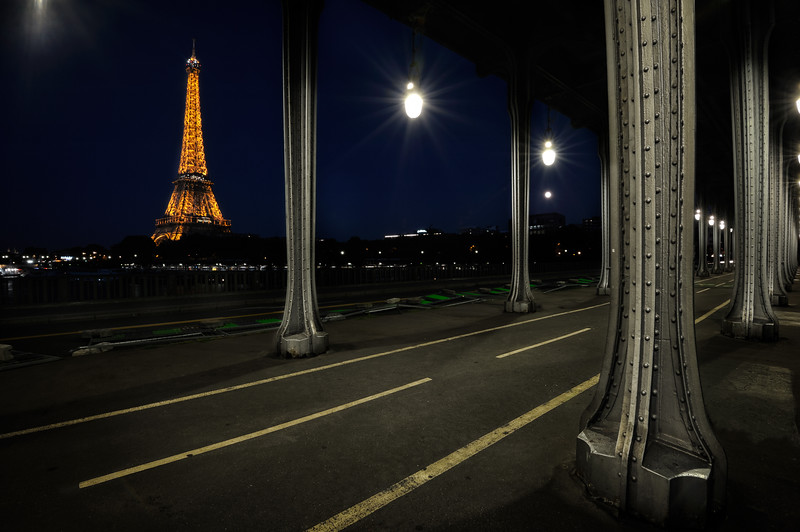 Eiffel Tower from Pont of Bir-Hakeim, Paris