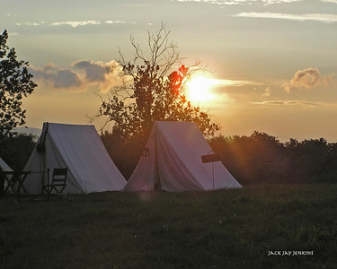 Sunset over the Confederate camp.