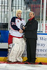 Top Goaltender:  Pete Karvouniaris, Cornwall Colts<br /> As a first year player in the CCHL, Karvouniaris has backstopped the Colts to the best goals against in the league and set team and league records in the process