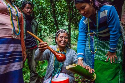 Galo tribe at Basar, Arunachal Pradesh, India